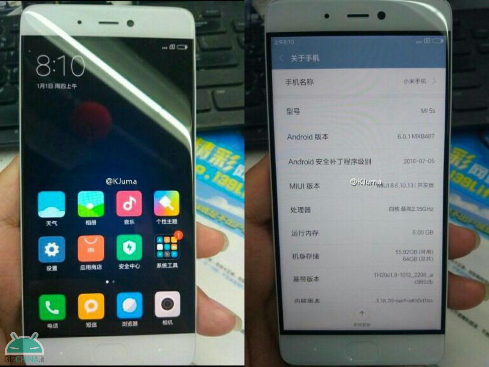 Xiaomi Mi 5S con 6GB di RAM