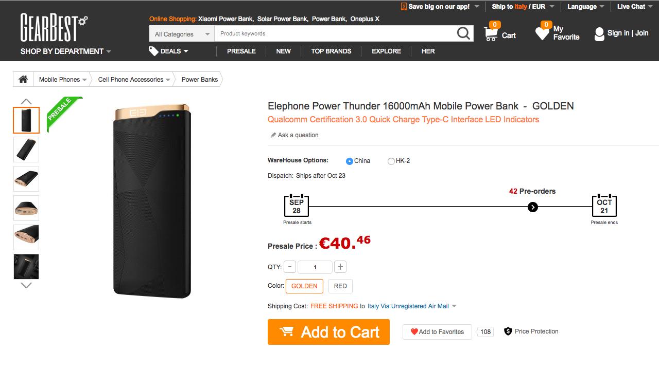 Elephone ELEpower Thunder 2