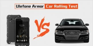 ulefone armor car rolling test