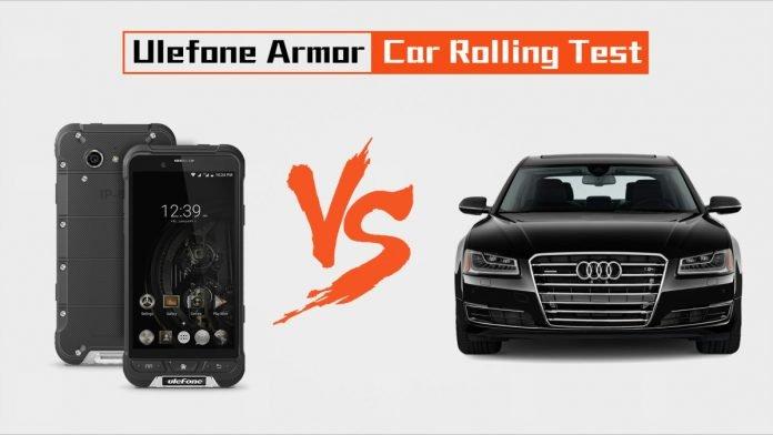 ulefone armor car rolling test