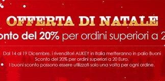 aukey promozione amazon natale