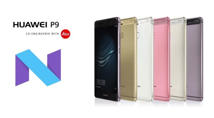 huawei p9 atualização android 7 nougat