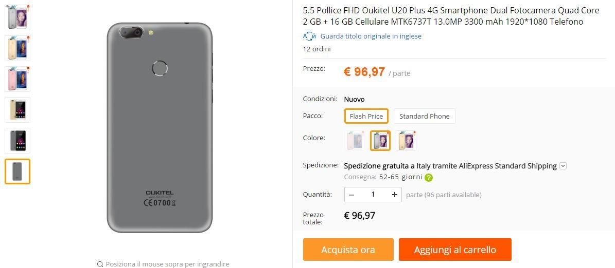 Oukitel U20 Plus AliExpress