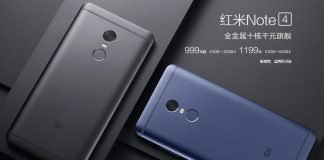 xiaomi redmi note 4 black e blue