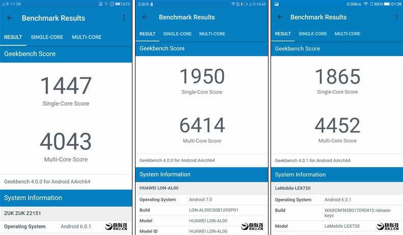 geekbench da borda do zuk