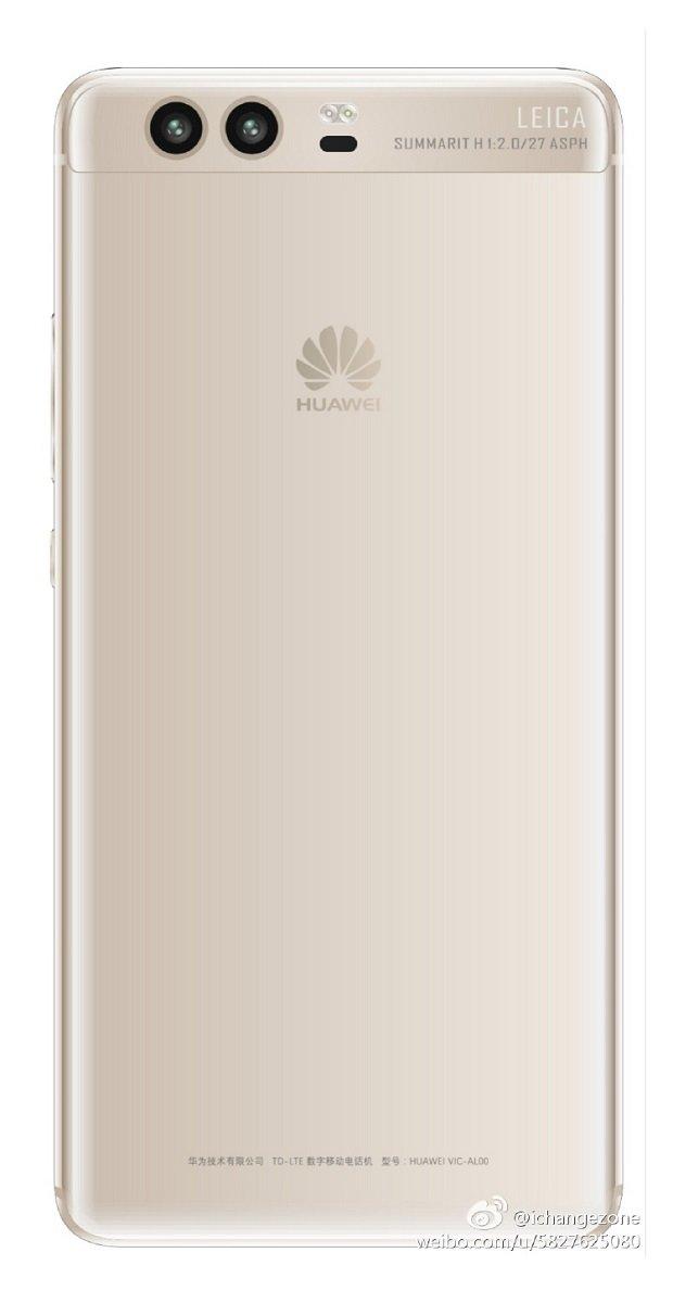 Huawei P10 render Gold White