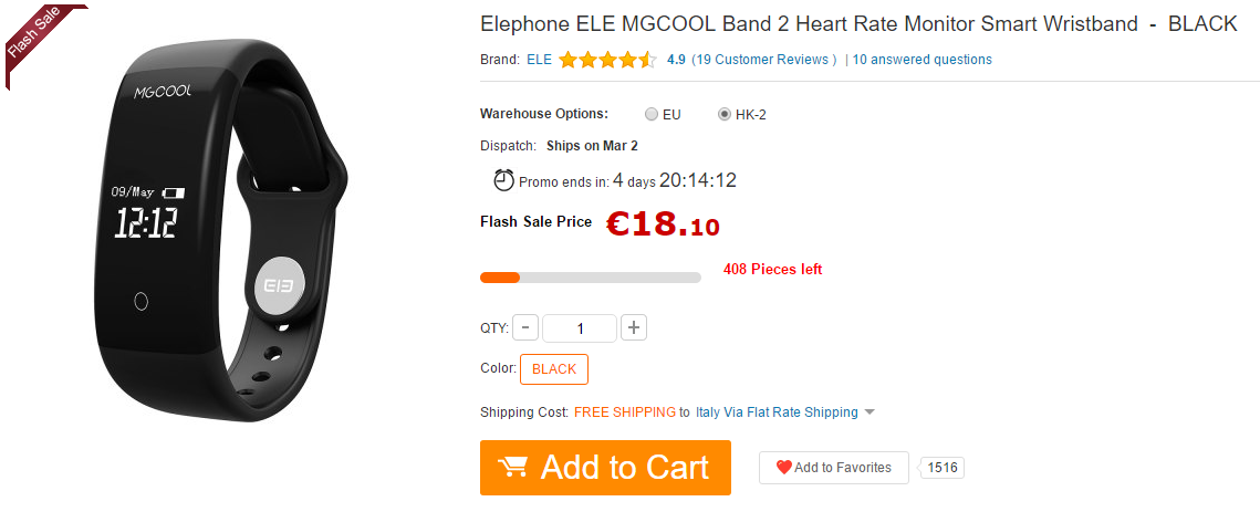 MGCOOL Band 2 GearBest