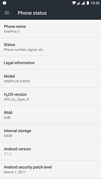 OnePlus 3 e 3T Android 7.1.1 Nougat beta