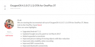 OnePlus 3 3T OxygenOS 4.1.0 Android 7.1.1 Turrón