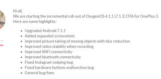 OnePlus 3 3T OxygenOS 4.1.1