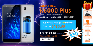 oukitel k6000 plus offerta
