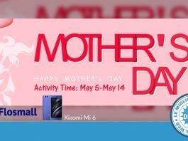 Flossmall - Códigos promocionais - Dia das Mães - Xiaomi Mi 6