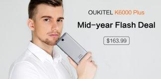 OUKITEL K6000 Plus mid year flash sale