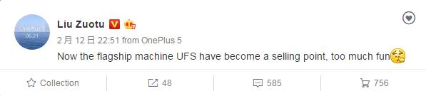 oneplus 5 ufs