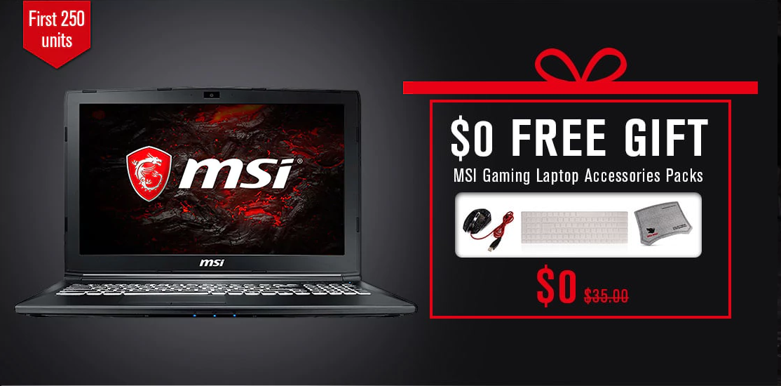 MSI GearBest gaming notebook regali