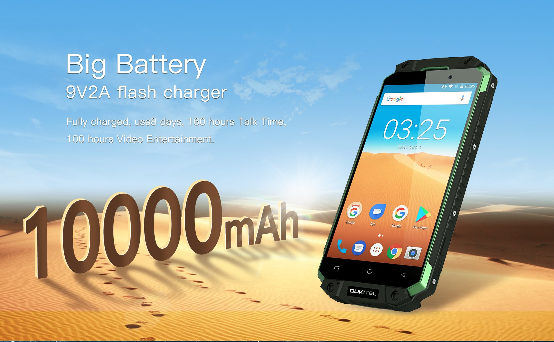 OUKITEL K10000 MAX summer battery