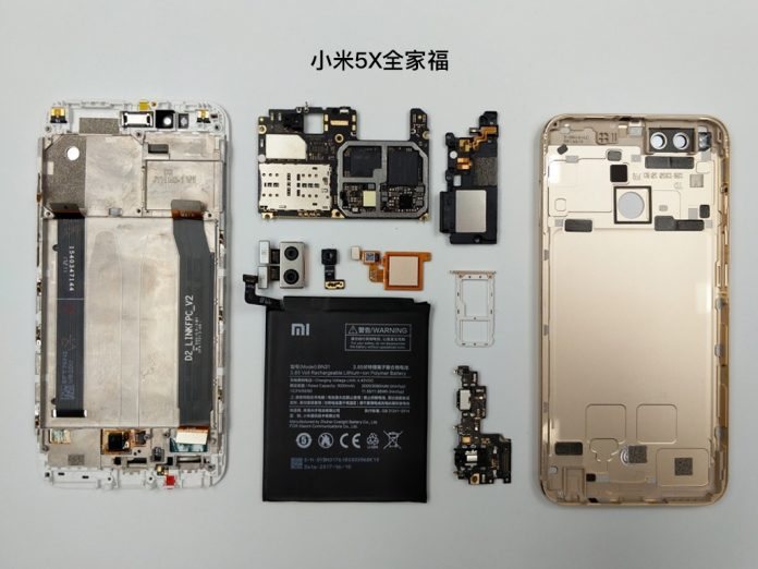 xiaomi mi 5X teardown 1
