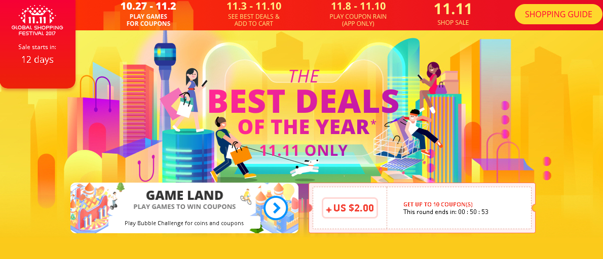 aliexpress singles day 11.11