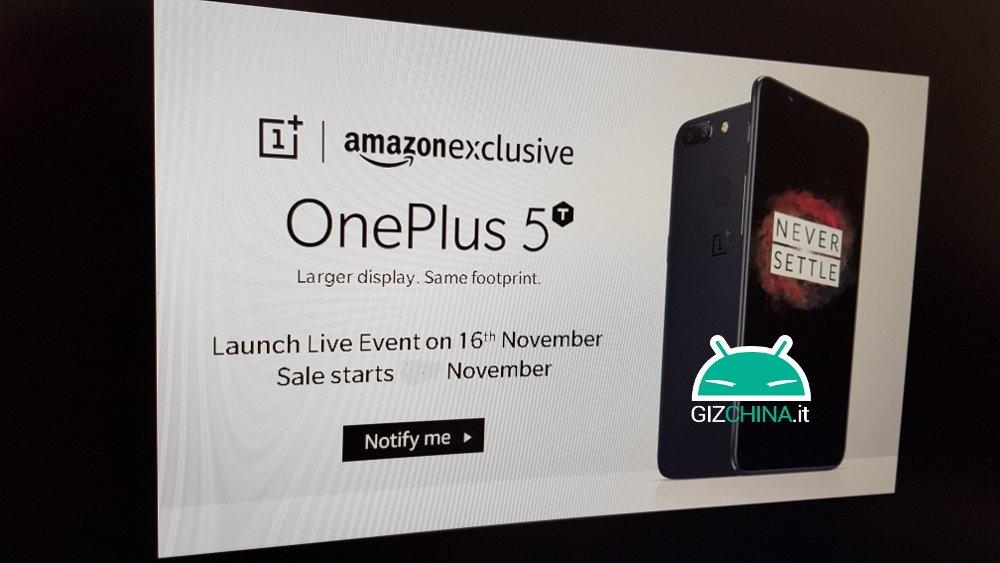 oneplus 5t data presentazione