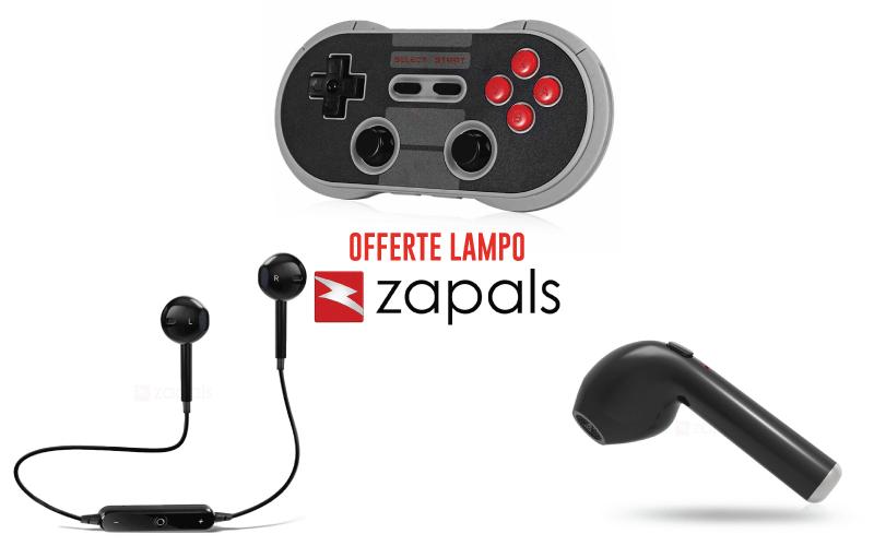 A Lampo Zapals oferece: fones de ouvido bluetooth, joypad sem fio e muito mais!