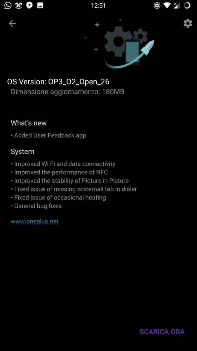 OnePlus 3T e OnePlus 3 OxygenOS Abrir Beta 26 17