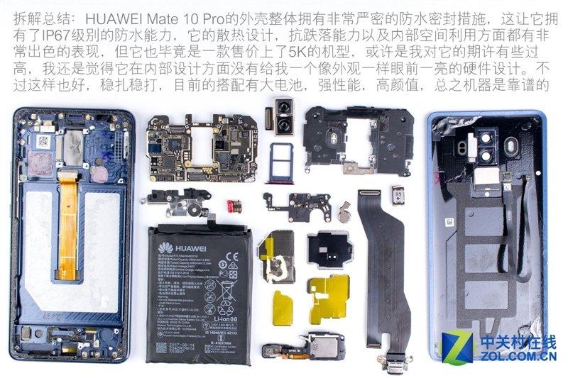 Huawei Mate 10 Pro: the first teardown reveals the internal