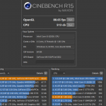 xiaomi mi Notizbuch pro Cinebench