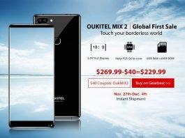 oukitel mix 2 banner أول بيع عالمي