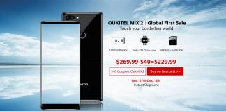 oukitel mix 2 banner global first sale