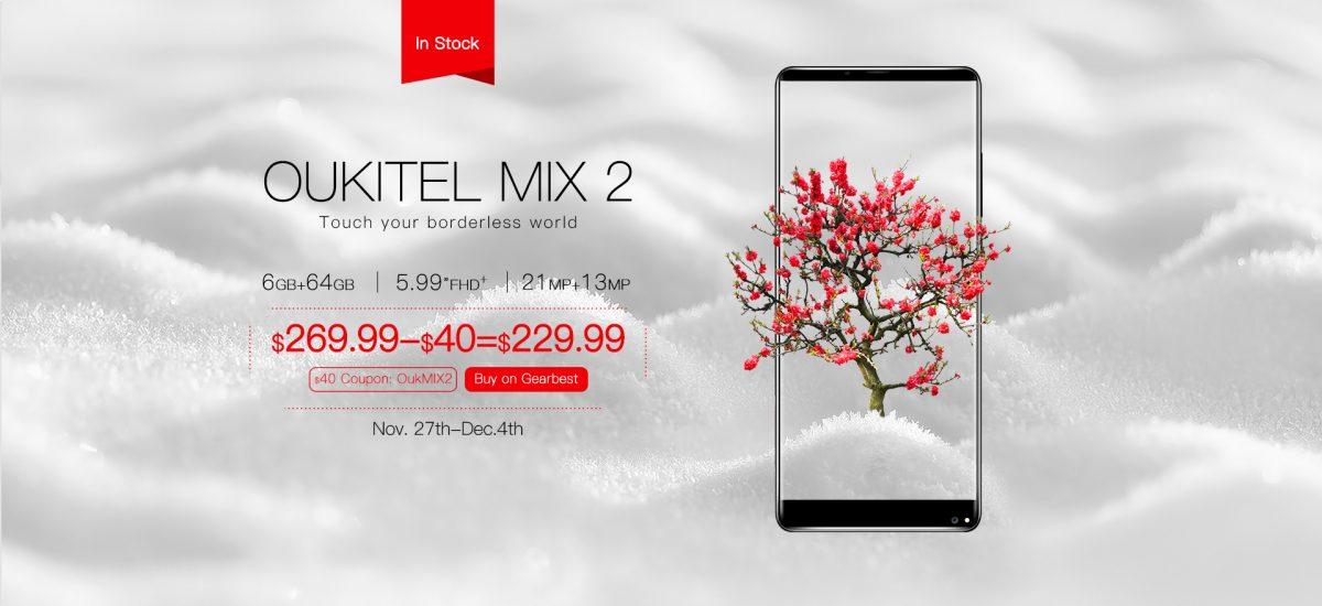 oukitel mix 2 preorder banner