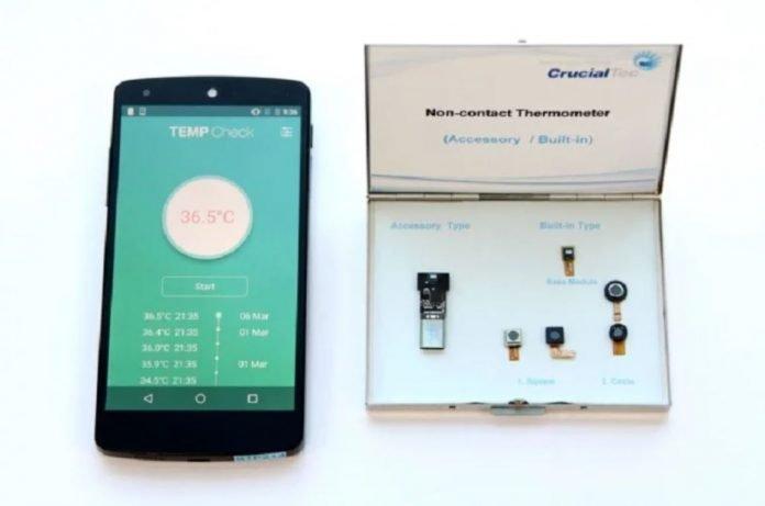 smartphone modulo termometro