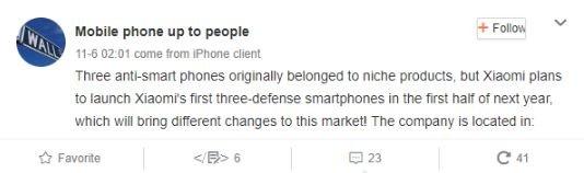 Xiaomi smartphone rugged