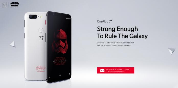 OnePlus 5T Edición limitada de Star Wars