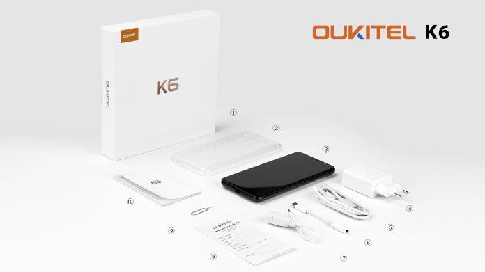oukitel k6 unboxing