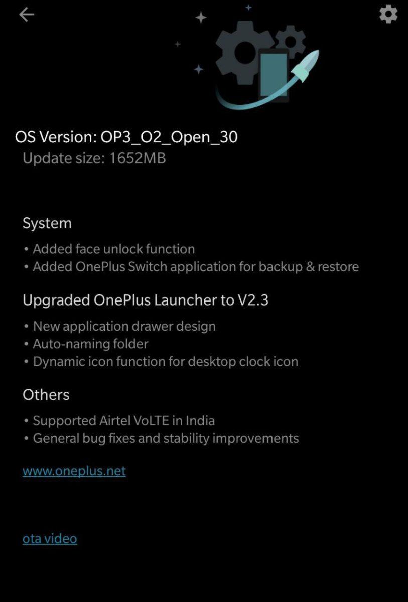 Oxigeno beta aberto oneplus 3