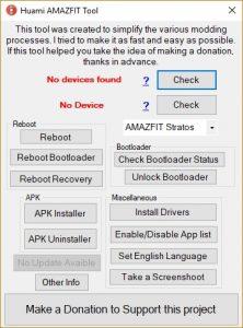 Huami Amazfit Tool: sblocco bootloader e tanto altro per