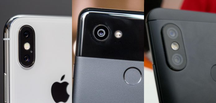 apple iphone x google pixel 2 xiaomi redmi notas 5 pro