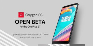 oneplus 5t open beta 4 android 8.1 oreo aggiornamento