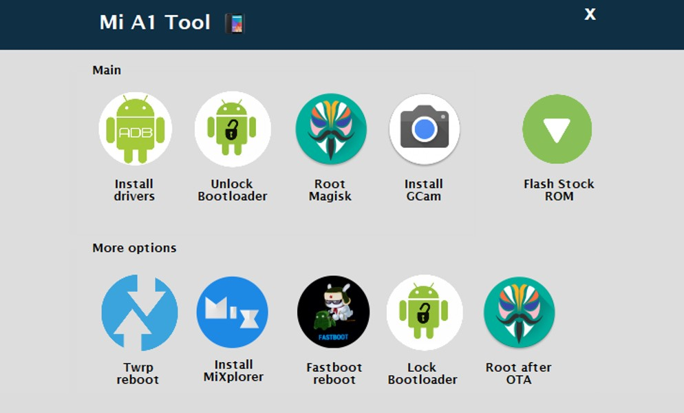 Xiaomi Mi A1 Tool for adb and fastboot operations Guide