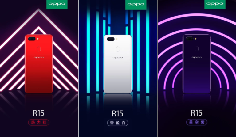 OPPO R15 Star Purple abrir pre-venta China
