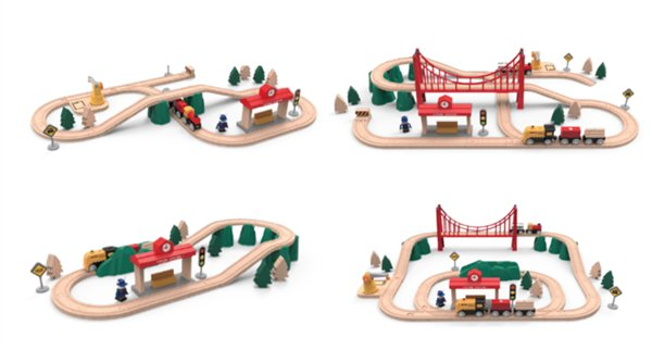 Xiaomi Rabbit Track Building Block / Electric Train