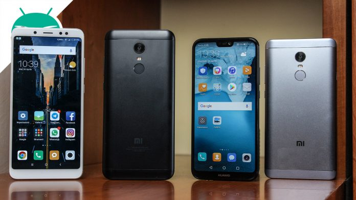 Xiaomi Redmi Note 5 VS Xiaomi Redmi 5 Plus VS Xiaomi Redmi Note 4 VS Huawei P20 Lite