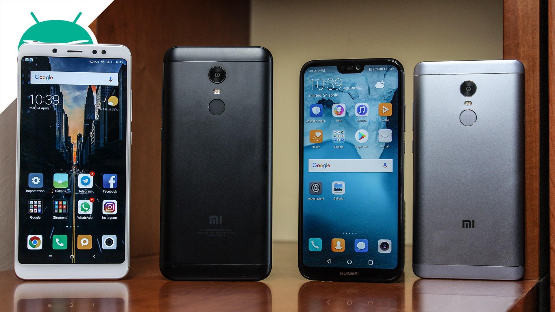Skonfiguruj Xiaomi Redmi Note 4 VS Xiaomi Redmi Uwaga 5 VS Xiaomi Redmi 5 Plus VS Huawei P20 Lite