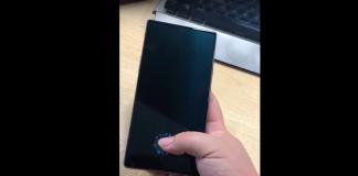 leitor de impressões digitais do elePhone S8 Pro sob a tela