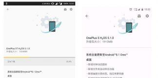 oneplus 5 e 5t cinesi Hydrogen OS Android Oreo 8.1