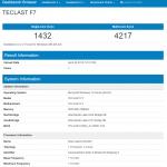 Teclast F7 Geekbench Überprüfung