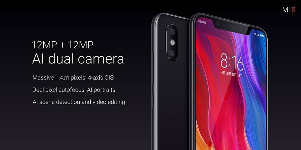 Xiaomi Mi 8 dual camera