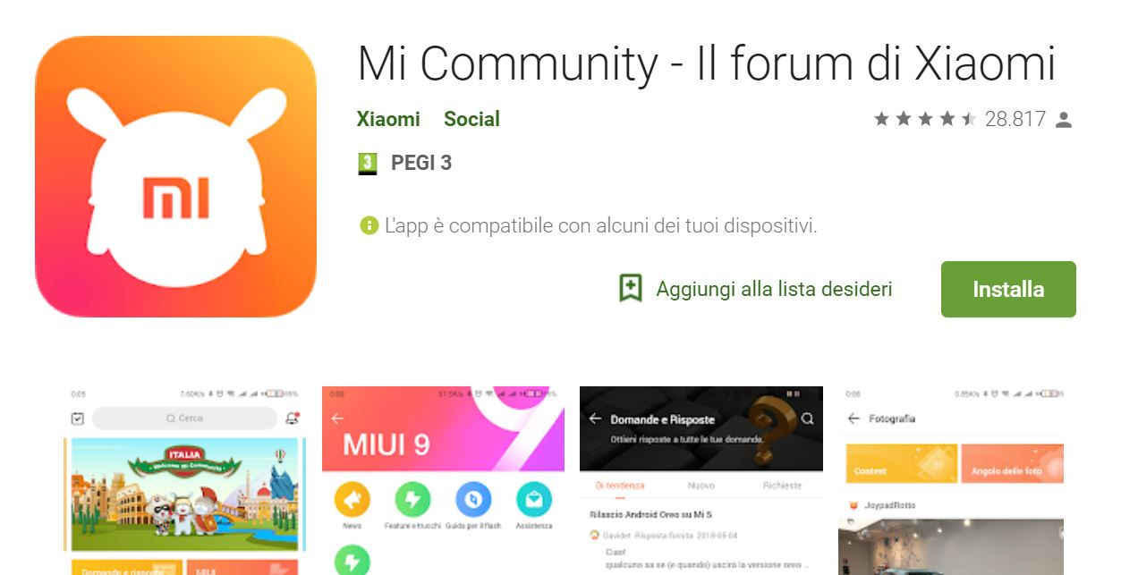 Xiaomi: the official Italian app of Mi Community lands in the Play