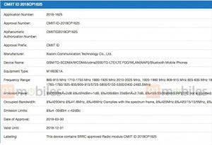 certificações xiaomi mi 8 e i 7 3C FCC (1)