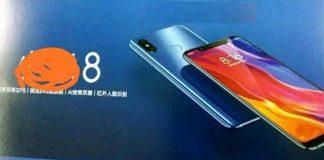 Xiaomi mi 8 renderuje odciski palców z tyłu